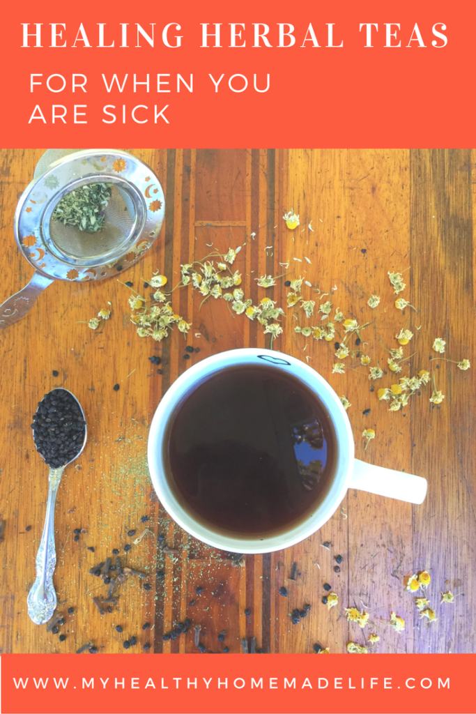Healing Herbal Tea for when you are sick | DIY | Herbs | Elderberry Tea | Immune Booster Tea | Home Remedies