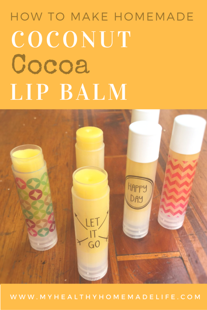 How to make Homemade Coconut Cocoa Lip Balm | DIY | Crafts | DIY Gifts | My Healthy Homemade Life