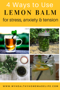 How to Use Lemon Balm for Stress, Tension and Anxiety | Herbal Remedies | Home Remedies | Herbal Tea Recipes | How to Make a Lemon Balm Tincture | How to Make a Lemon Balm Glycerite | My Healthy Homemade Life