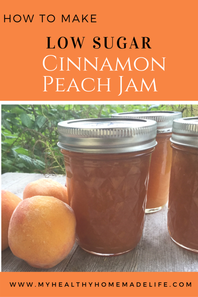 How to Make Low Sugar Cinnamon Peach Jam | Preserving | DIY | Canning | Jam Recipes | Health Recipes | My Healthy Homemade Life