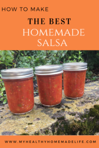 How to Make The Best Homemade Salsa with fresh tomatoes (for Canning) | Healthy Recipe | Preserving | My Healthy Homemade Life
